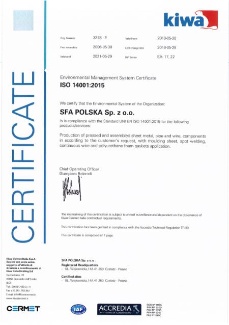 SFA ISO 14001